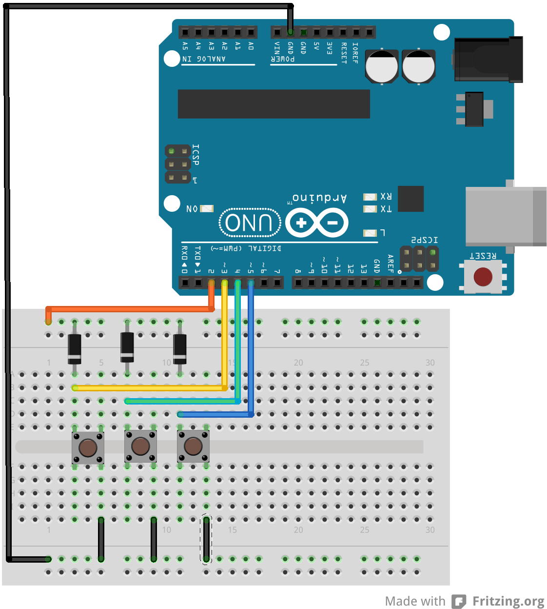 Pin change interrupt and push button debouncing